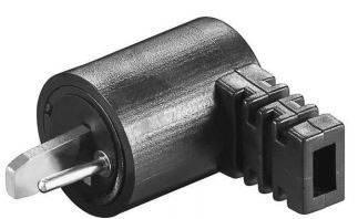 Konektor reproduktoru 2pól. Goobay, zástrčka úhlová, černá
