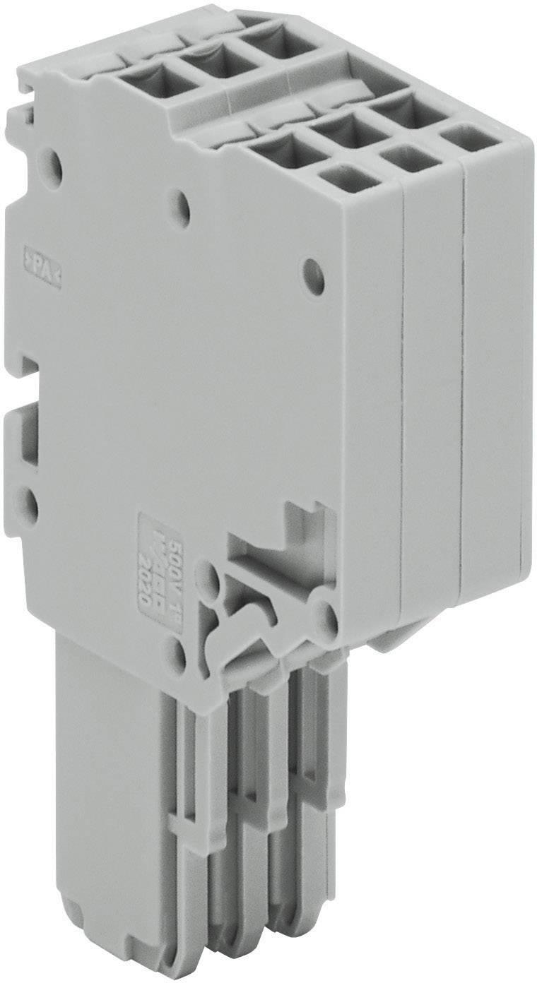 X-COM® S-SYSTEM-MINI 2vodičové pružinové lišty WAGO 2020-203 šedá 1 ks