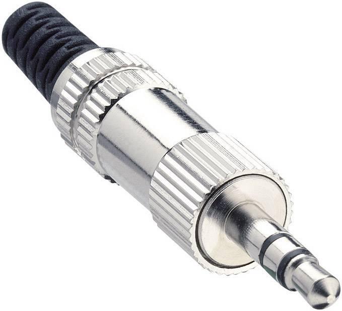 Jack konektor 3.5 mm stereo zástrčka, rovná Lumberg KLS 44, pinov 3, strieborná, 1 ks