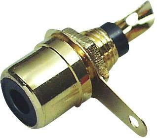 Cinch konektor zásuvka, vstavateľná vertikálna BKL Electronic 0101135, počet pinov: 2, čierna, 1 ks
