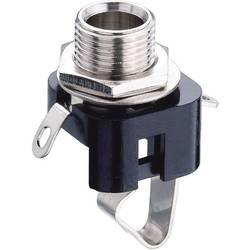 Jack konektor 6,35 mm mono Lumberg KLBM, Bez, zásuvka vestavná vertikální, 2pól., černá