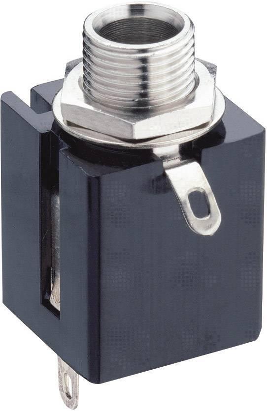Jack konektor 6.35 mm stereo zásuvka, vstavateľná vertikálna Lumberg KLBP 3, pinov 3, čierna, 1 ks