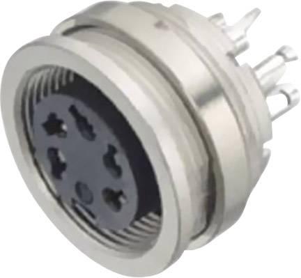 Miniatúrny okrúhly konektor guľatý faston Konektor Binder 09-0308-00-03 5 A, IP40, poniklovaná, pólů 3, 1 ks