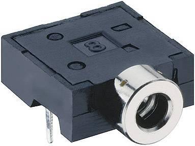 Jack konektor 2.5 mm stereo zásuvka, vstavateľná horizontálna Lumberg 1501 06, pinov 3, čierna, 1 ks