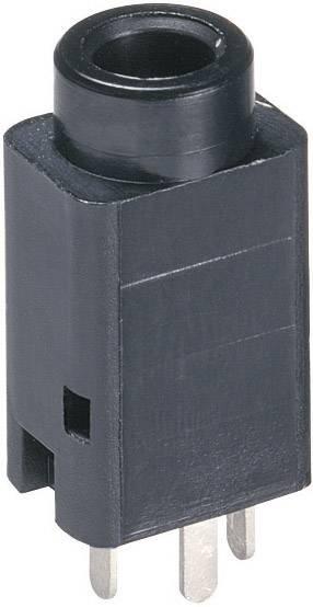 Jack konektor 3.5 mm stereo zásuvka, vstavateľná vertikálna Lumberg 1502 01, počet pinov: 3, čierna, 1 ks