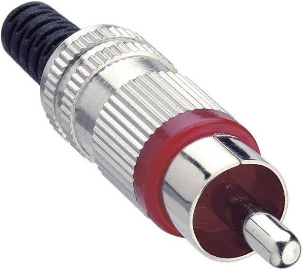Cinch konektor Lumberg STO 2, zástrčka, rovná, pólů 2, červená, poniklovaný, 1 ks