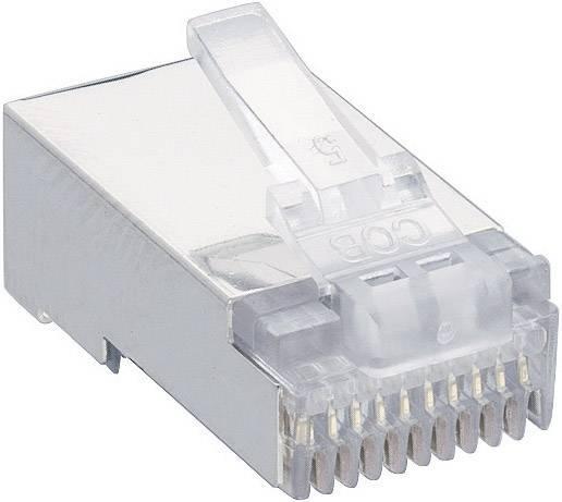 Konektor RJ48 Lumberg P 303 S, zástrčka rovná, transparentní