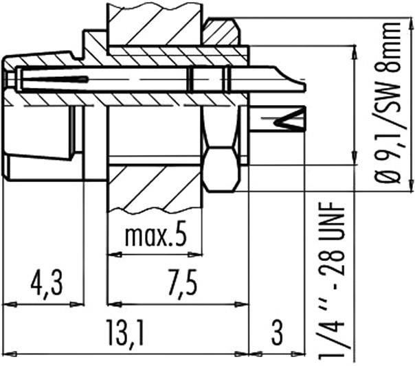 Binder 09-9750-30-03 IP40, pólů + PE, 1 ks
