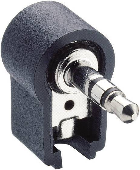 Jack konektor 3.5 mm stereo zástrčka, zahnutá Lumberg WKLS 40, pinov 3, čierna, 1 ks