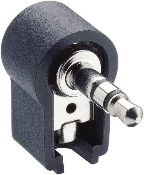 Jack konektor 3.5 mm stereo zástrčka, zahnutá Lumberg WKLS 40, počet pinov: 3, čierna, 1 ks