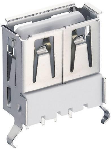 Zásuvka, vstavateľná vertikálna USB-konektor 2.0 Lumberg 2410 01, 1 ks