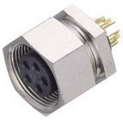 Kulatý konektor submin. Binder 711 (09-0082-00-04), 4pól., zásuvka vest., 0,25 mm², IP40