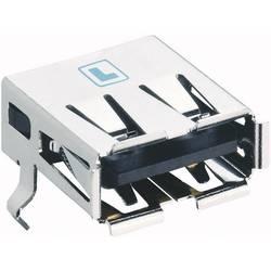 Zásuvka, vstavateľná horizontálna USB-konektor 2.0 Lumberg 2410 06, 1 ks
