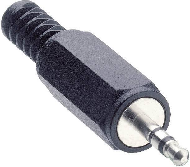 Jack konektor 2.5 mm stereo zástrčka, rovná Lumberg KLS 13, počet pinov: 3, čierna, 1 ks