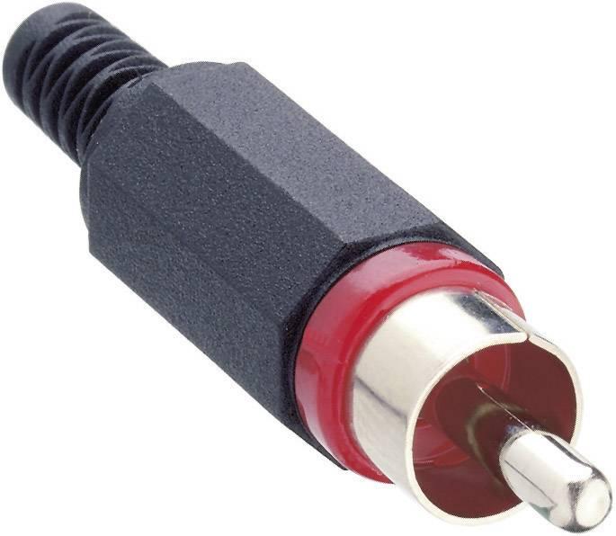 Cinch konektor zástrčka, rovná Lumberg XSTO 1, počet pinov: 2, červená, 1 ks
