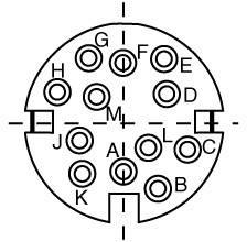 Kabelová zásuvka 12-kontakt.