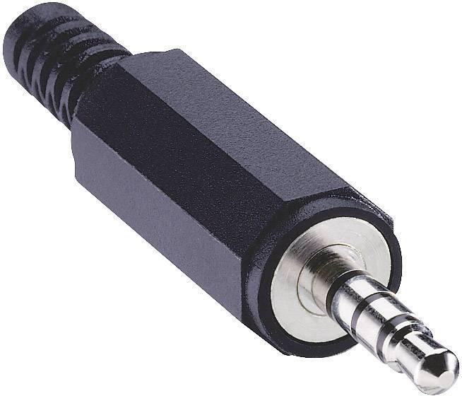 Jack konektor 3.5 mm stereo zástrčka, rovná Lumberg 1532 02, pinov 4, čierna, 1 ks