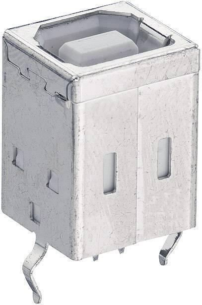Zásuvka, vstavateľná vertikálna USB-konektor 2.0 Lumberg 2411 01, 1 ks