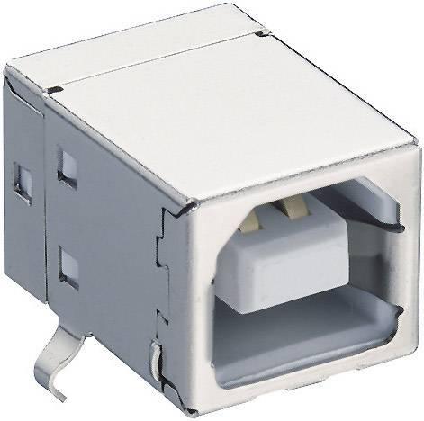 Zásuvka, vstavateľná horizontálna USB-konektor 2.0 Lumberg 2411 02, 1 ks