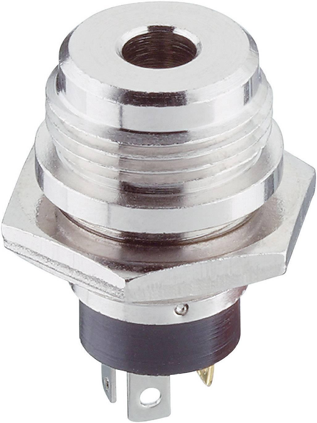 Jack konektor 3.5 mm stereo zásuvka, vstavateľná vertikálna Lumberg 1502 04, pinov 3, strieborná, 1 ks