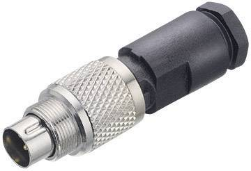 Kulatý konektor submin. Binder 712 (99-0421-00-07), 7pól., kab. zástrčka, 0,14 mm², IP67