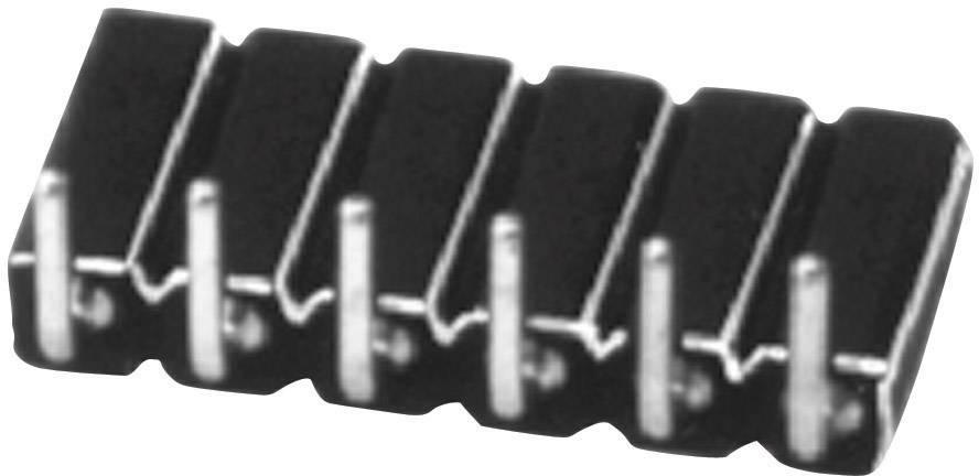 Zásuvková lišta (precízna) W & P Products 154-008-1-50-00, řádky 1, kontakty na řádek 8, 1 ks