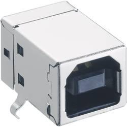 USB konektor 2.0 vestavný do DPS Lumberg 2411 03, zásuvka Typ B, černá
