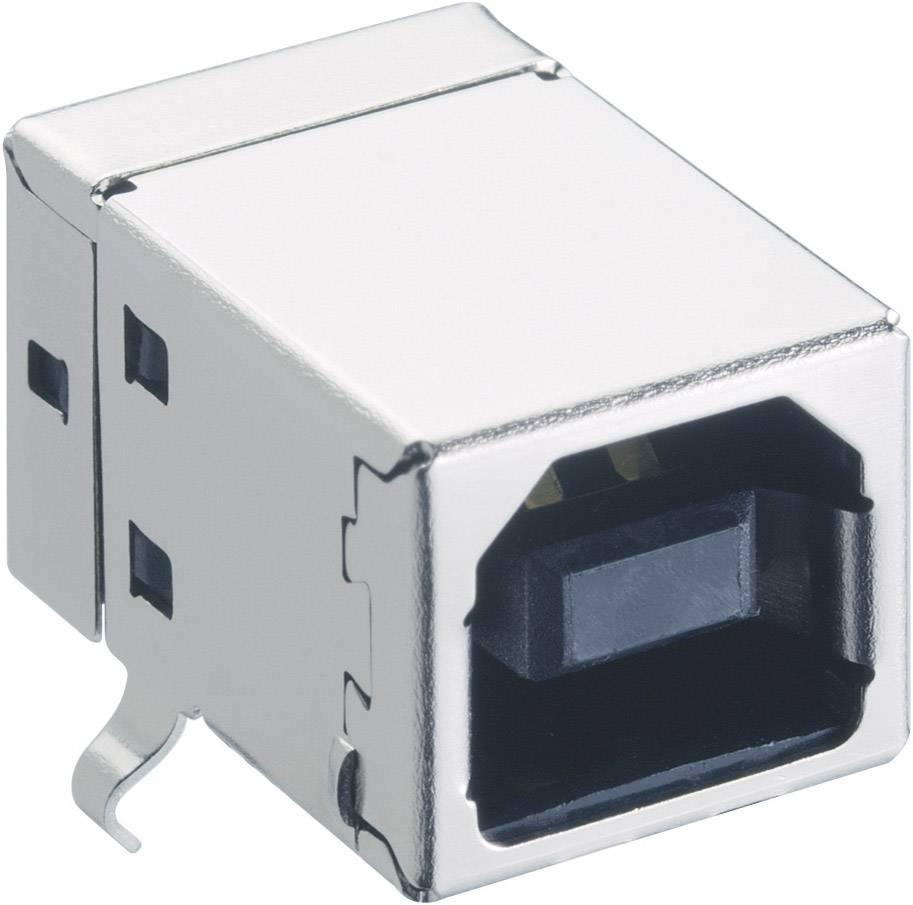 Zásuvka, vstavateľná horizontálna USB-konektor 2.0 Lumberg 2411 03, 1 ks