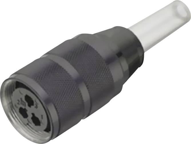 Okrúhly konektor so skrutkovacím blokovaním Káblová prípojka Binder 09-0042-00-07 5 A , IP40, pólů + PE, 1 ks