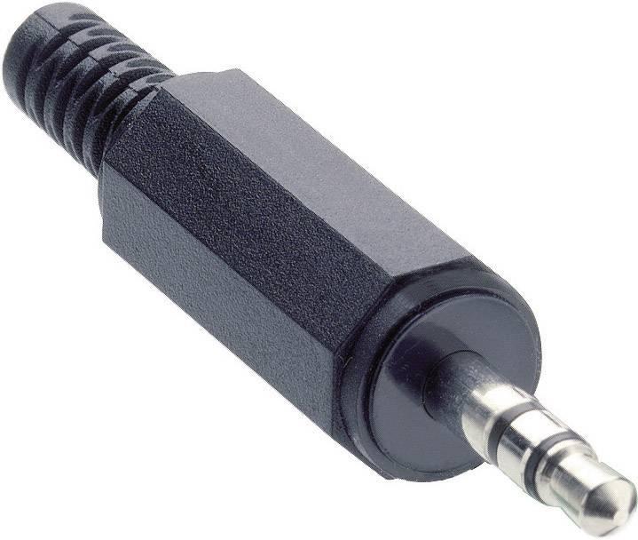 Jack konektor 3.5 mm stereo zástrčka, rovná Lumberg KLS 40, pinov 3, čierna, 1 ks