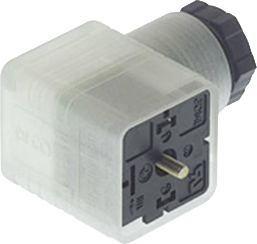 Napájecí prům. konektor se signalizací Hirschmann GDML 2011 LED 24 HH schwarz/black (932 336-002), transparent