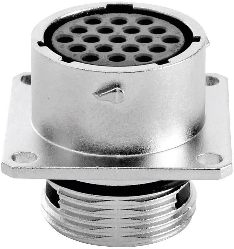 Přístrojová zásuvka - série RT360™ čtyřhranná příruba Amphenol RT0014-19SNH 5 A, IP67 (v zapojeném stavu), poniklovaný, 1 ks