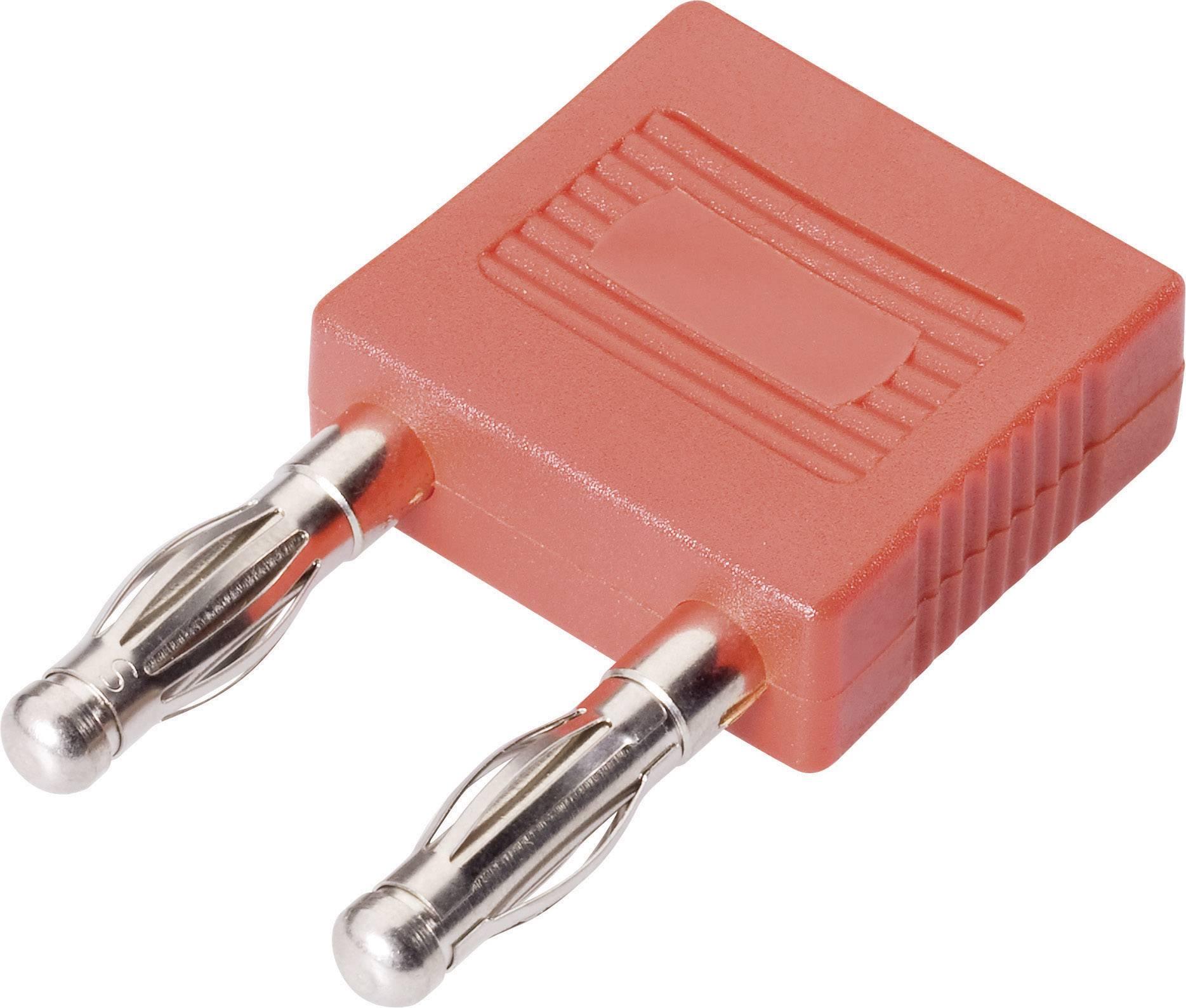 Spojovací konektor Schnepp FK 14/4mB - AU, Ø hrotu 4 mm, rozostup hrotov 14 mm, červená, 1 ks