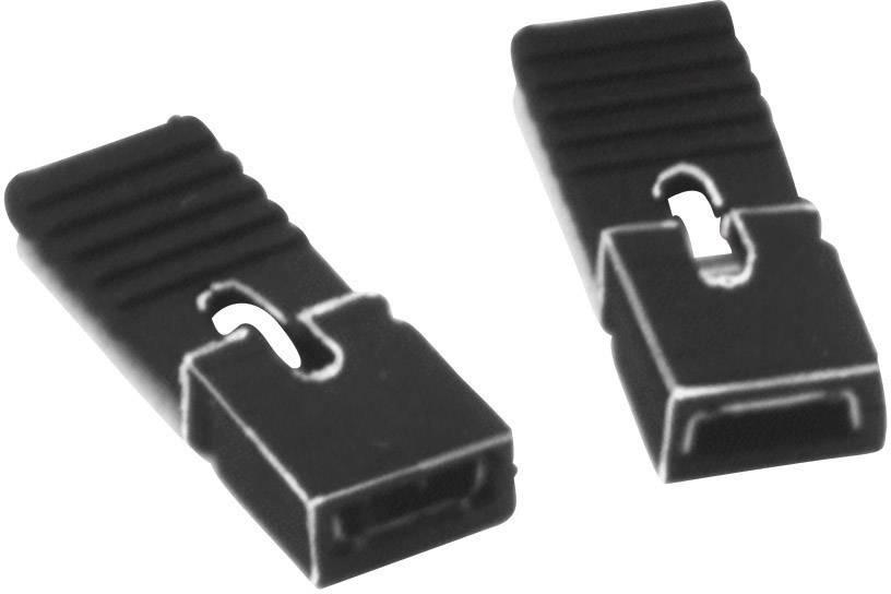 Zkratovací můstek W & P Products 351-301-10-00, 2,00 mm, černá