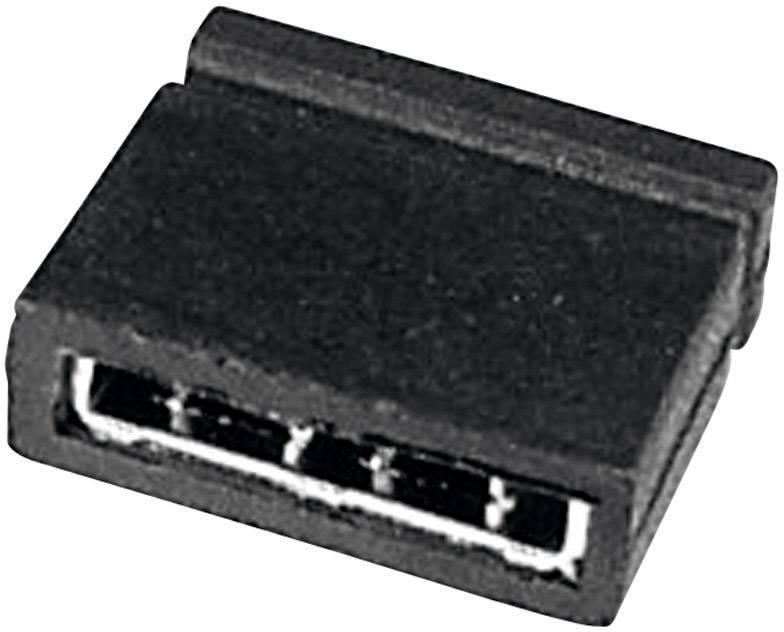 Zkratovací můstek TRU COMPONENTS TC-05305-101-10-00, rastr (rozteč) 2.54 mm, 5.08 mm, počet pólů 2, černá, 1 ks