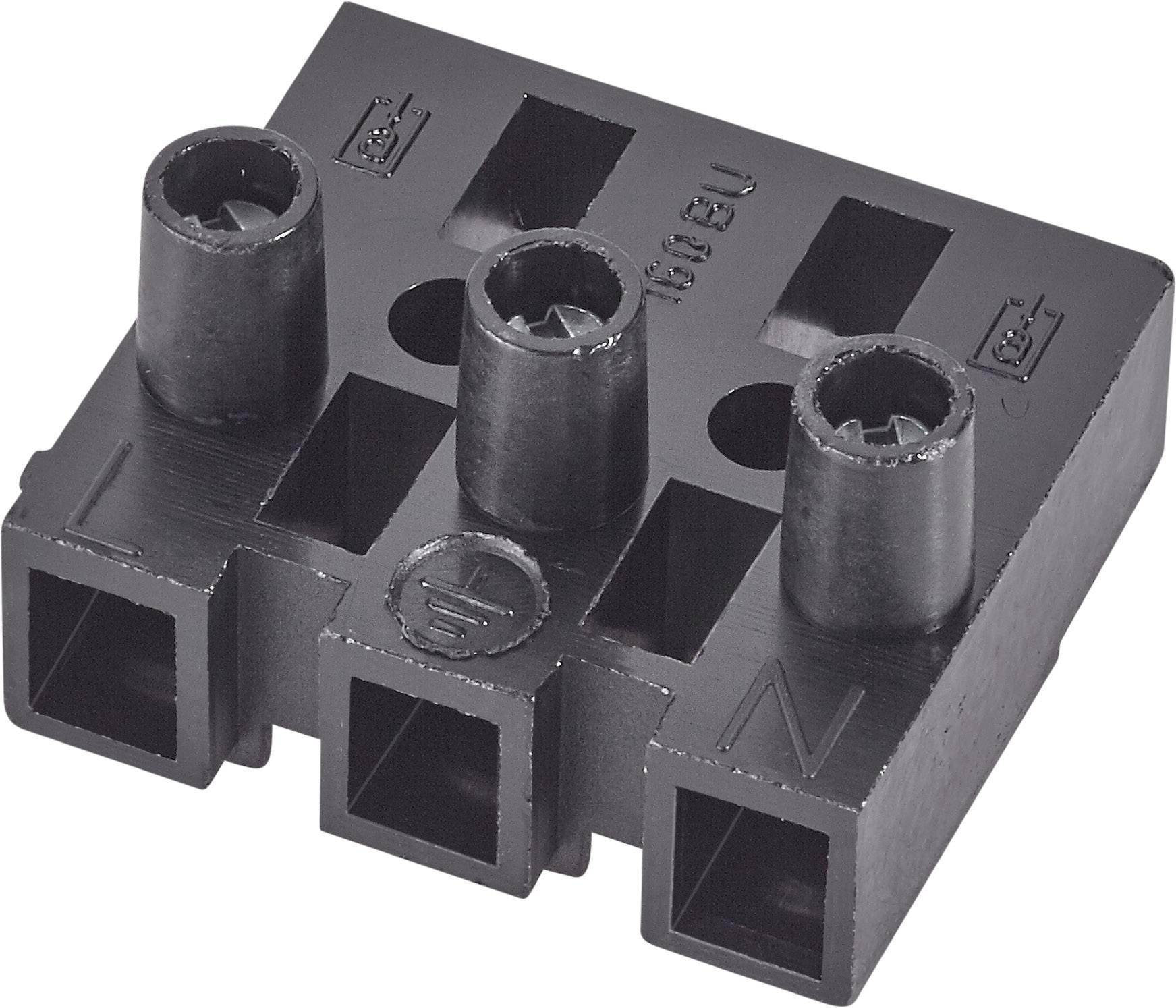 Krabicová svorkovnica Adels-Contact 160 BU/5 DSS na kábel s rozmerom -2.5 mm², pólů 5, 1 ks, čierna
