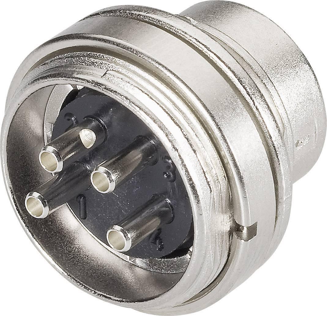 Miniatúrny okrúhly konektor mini guľatý konektor Konektor Binder 09-0319-00-05 5 A, IP40, poniklovaná, 1 ks