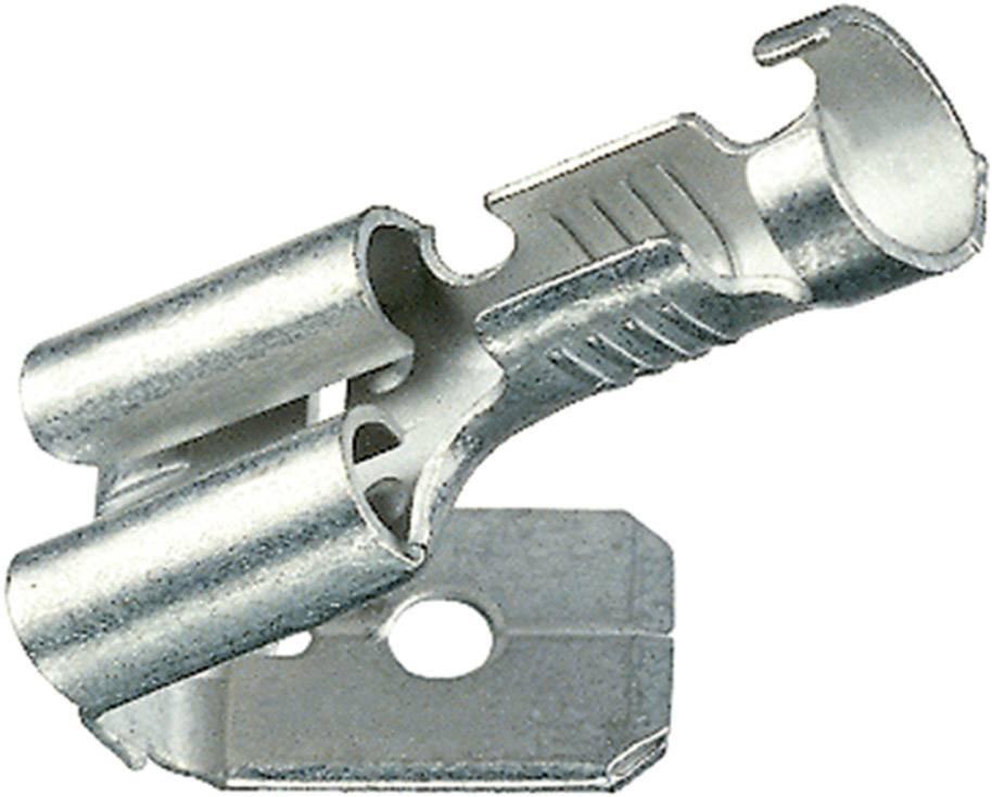 Faston zásuvka Klauke 18303AZ s odbočkou, 4.8 mm x 0.8 mm, 180 °, bez izolace, kov, 1 ks