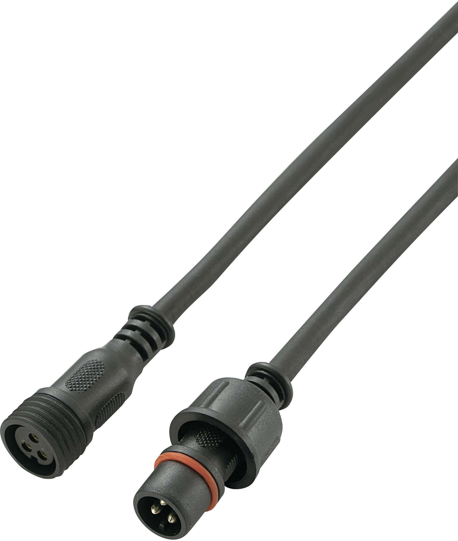 Vodotesný konektor, zástrčka rovná / zásuvka rovná, PVC, 0,5 m, 3-pól., IP68