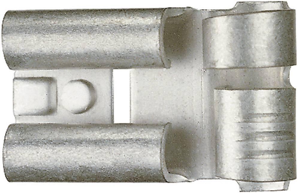 Faston zásuvka Klauke 3725 6.3 mm x 0.8 mm, 90 °, bez izolace, kov, 1 ks