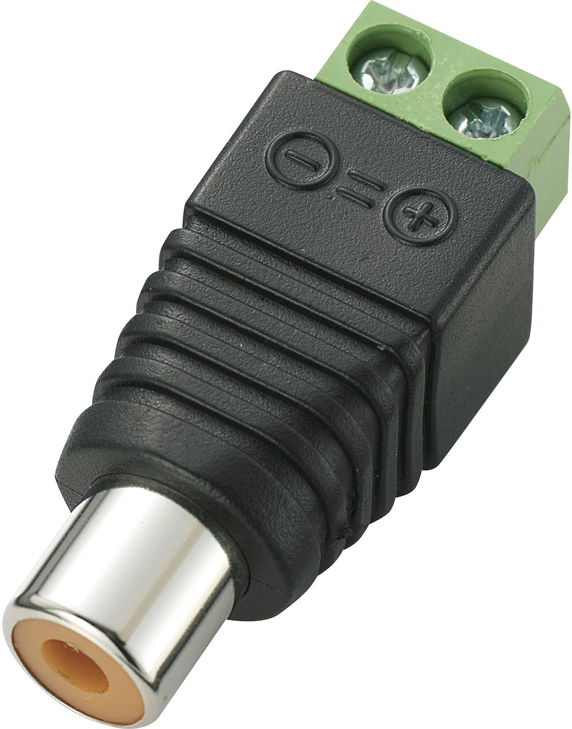 Cinch konektor zásuvka, rovná Počet pólů: 2 černá LT-RAC-J