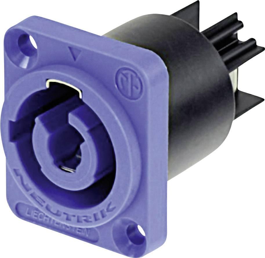 Sieťový konektor Neutrik NAC3MPA, zástrčka, vstaviteľná vertikálna, počet kontaktov: 2 + PE, 20 A, 250 V/AC, modrá, 1 ks
