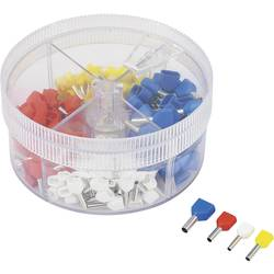 Sada 2násobných dutinek TRU COMPONENTS 739873 0.705 mm² - 2.50 mm², bílá, žlutá, červená, modrá, 200 ks