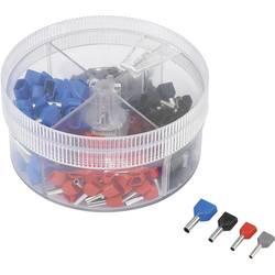 Sada 2násobných dutinek 0.50 mm² 2.50 mm² šedá, červená, černá, modrá TRU COMPONENTS 739884 200 ks