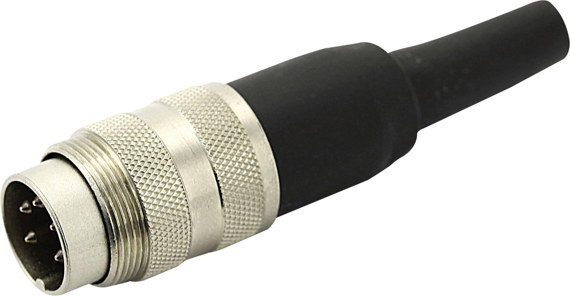 Kabelová zástrčka rovná 8 pólo3-12 pólová, 250 V, 5 A