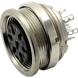 Kruhový konektor C091 / A guľatý faston Amphenol T 3363 000 IP40, pólů 5, 1 ks