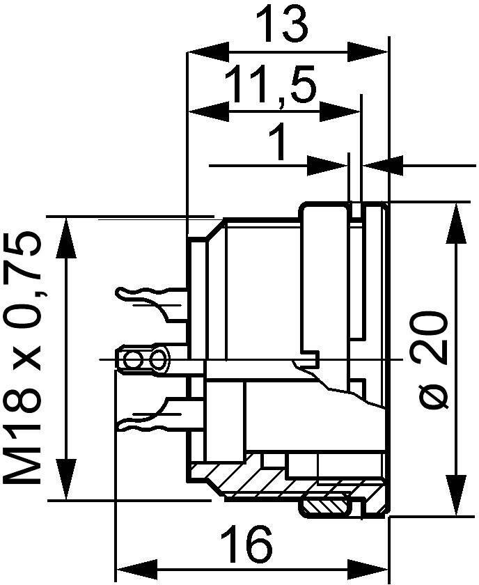Amphenol T 3263 000 IP40, pólů + PE, 1 ks