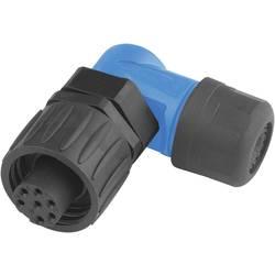 Kabelová zásuvka 6+PE Amphenol C016 30F006 100 10, zahnutá, 10 A, černá/modrá