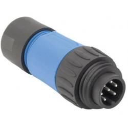 Guľatý faston Amphenol C016 30H006 110 10 IP67 (v zablokovanom stave), polyamid 6.6, pólů 6 + PE, 1 ks