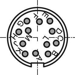 Amphenol T 3638 000 IP40, pólů + PE, 1 ks
